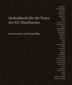 Gedenkbuch für die Toten des KZ Mauthausen und seiner Außenlager Band 1