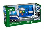 BRIO Batterielok Blauer Oskar m.APP St