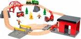 BRIO 33817 - World, Großes Feuerwehr Deluxe Set, Notfallrettungs-Set, Rescue Set, 30 Teile