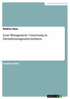 Lean Management. Umsetzung in Dienstleistungsunternehmen (eBook, ePUB)