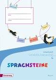 SPRACHSTEINE Sprachbuch 4. Arbeitsheft. VA Vereinfachte Ausgangsschrift. Bayern