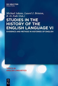 Studies in the History of the English Language VI (eBook, ePUB)