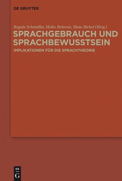 Sprachgebrauch und Sprachbewusstsein (eBook, ePUB)