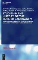 Studies in the History of the English Language V (eBook, PDF)