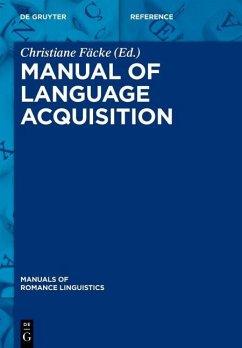 Manual of Language Acquisition (eBook, PDF)