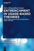Entrenchment in Usage-Based Theories (eBook, PDF)