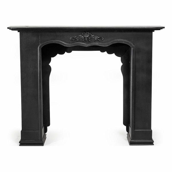 miavilla kaminumrandung lenja schwarz portofrei bei b. Black Bedroom Furniture Sets. Home Design Ideas