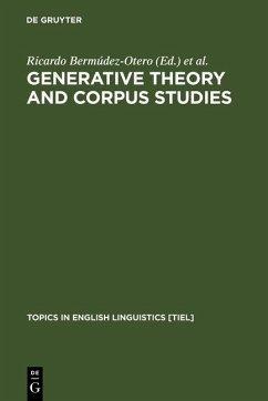 Generative Theory and Corpus Studies (eBook, PDF)