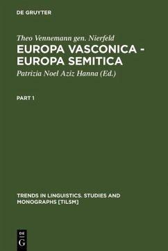 Europa Vasconica - Europa Semitica (eBook, PDF) - Vennemann gen. Nierfeld, Theo