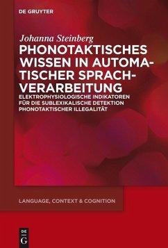 Phonotaktisches Wissen (eBook, ePUB) - Steinberg, Johanna