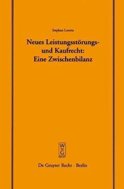 Neues Leistungsstörungs- und Kaufrecht (eBook, PDF) - Lorenz, Stephan