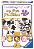 Ravensburger 07176 - My First Puzzle, Tiere und Ihre Kinder, 6 x 2 Teile, bunt