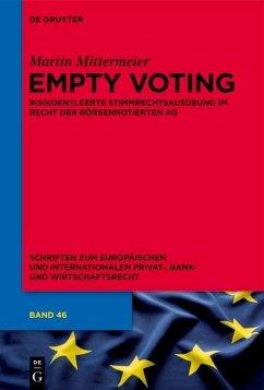 Empty Voting (eBook, PDF) - Mittermeier, Martin