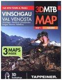Mountainbike-Karte Best of Vinschgau, 3 Bl.; Cartina Mountainbike Best of / Il meglio della Val Venosta
