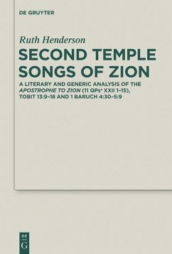 Second Temple Songs of Zion (eBook, PDF) - Henderson, Ruth