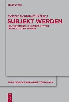Subjekt werden (eBook, PDF)