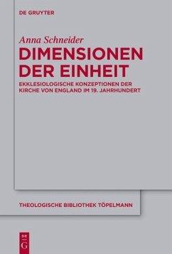 Dimensionen der Einheit (eBook, ePUB) - Schneider, Anna