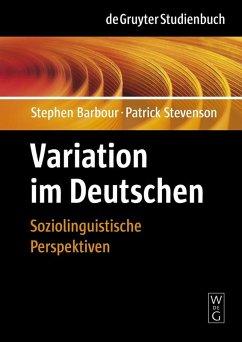 Variation im Deutschen (eBook, PDF) - Stevenson, Patrick; Barbour, Stephen