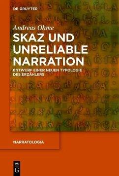 Skaz und Unreliable Narration (eBook, PDF) - Ohme, Andreas