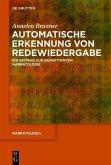 Automatische Erkennung von Redewiedergabe (eBook, PDF)