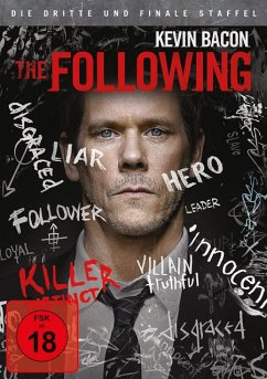 The Following - Die komplette 3. Staffel (4 Discs) - Kevin Bacon,Shawn Ashmore,Jessica Stroup