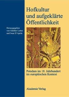 Hofkultur und aufgeklärte Öffentlichkeit (eBook, PDF)