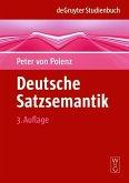 Deutsche Satzsemantik (eBook, PDF)