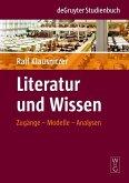 Literatur und Wissen (eBook, PDF)