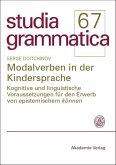 Modalverben in der Kindersprache (eBook, PDF)
