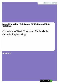 Overview of Basic Tools and Methods for Genetic Engineering (eBook, ePUB)