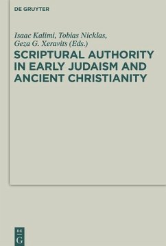 Scriptural Authority in Early Judaism and Ancient Christianity (eBook, PDF)