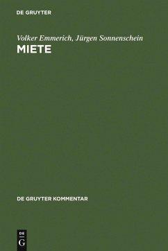 Miete (eBook, PDF) - Emmerich, Volker; Sonnenschein, Jürgen