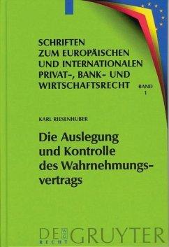Die Auslegung und Kontrolle des Wahrnehmungsvertrags (eBook, PDF) - Riesenhuber, Karl