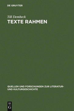 Texte rahmen (eBook, PDF) - Dembeck, Till