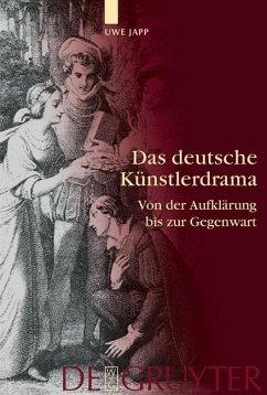 Das deutsche Künstlerdrama (eBook, PDF) - Japp, Uwe