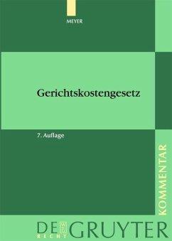 Gerichtskostengesetz (eBook, PDF) - Meyer, Dieter