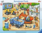 Ravensburger 06120 - Große Baustellenfahrzeuge, Rahmenpuzzle 40 Teile