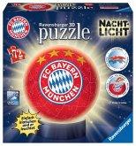 Ravensburger 12177 - FC Bayern München, Puzzleball mit Nachtlicht, 3D, 72 Teile