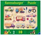 Ravensburger 03670 - Auf der Straße, 10 Teile Holzpuzzle