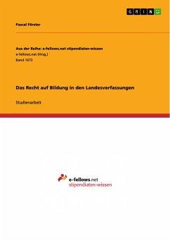 Das Recht auf Bildung in den Landesverfassungen (eBook, PDF)