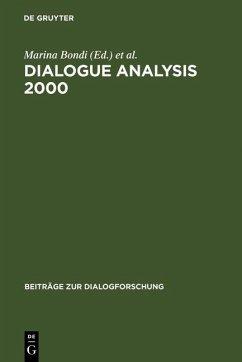 Dialogue Analysis 2000 (eBook, PDF)