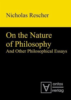 On the Nature of Philosophy and Other Philosophical Essays (eBook, PDF) - Rescher, Nicholas