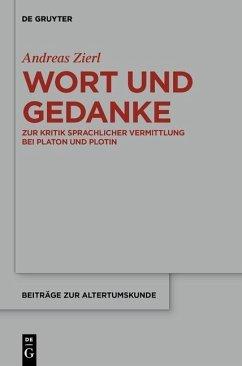 Wort und Gedanke (eBook, PDF) - Zierl, Andreas