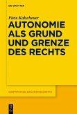 Autonomie als Grund und Grenze des Rechts (eBook, ePUB)