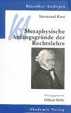 Immanuel Kant: Metaphysische Anfangsgründe der Rechtslehre (eBook, PDF)