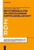 Prinzipien der geschlossenen Kapitalgesellschaft in Europa (eBook, PDF)
