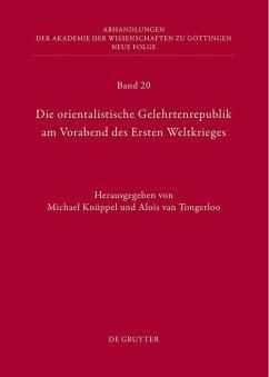 Die orientalische Gelehrtenrepublik am Vorabend des Ersten Weltkrieges (eBook, PDF)