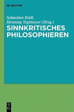 Sinnkritisches Philosophieren (eBook, PDF)