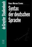 Syntax der deutschen Sprache (eBook, PDF)