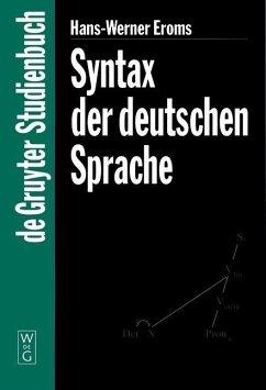Syntax der deutschen Sprache (eBook, PDF) - Eroms, Hans-Werner